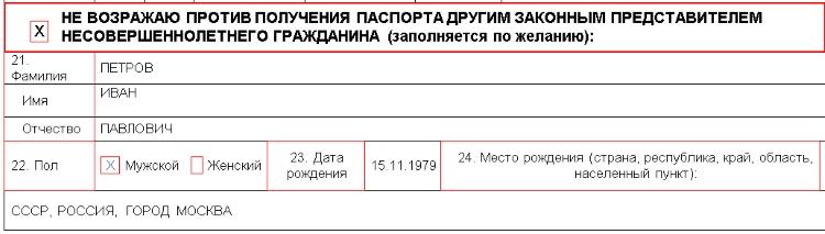 Оформление анкеты на загранпаспорт старого образца на ребенка в 2019 году
